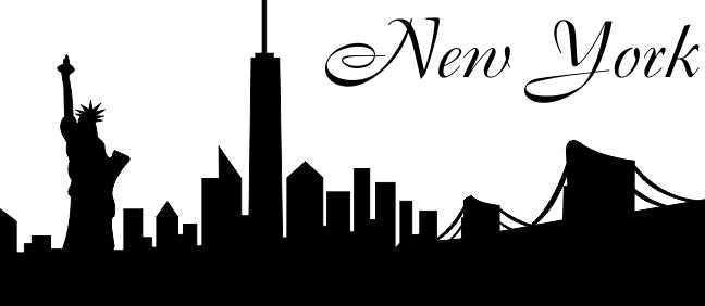 wandtattoo skyline new york. Black Bedroom Furniture Sets. Home Design Ideas