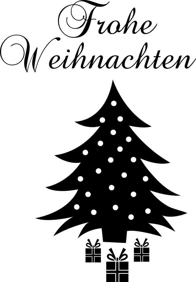 wandtattoo frohe weihnachten baum geschenke www. Black Bedroom Furniture Sets. Home Design Ideas