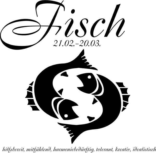 wandtattoo aufkleber sternzeichen fisch astrologie wand 3 gr 24 farben w724 ebay. Black Bedroom Furniture Sets. Home Design Ideas