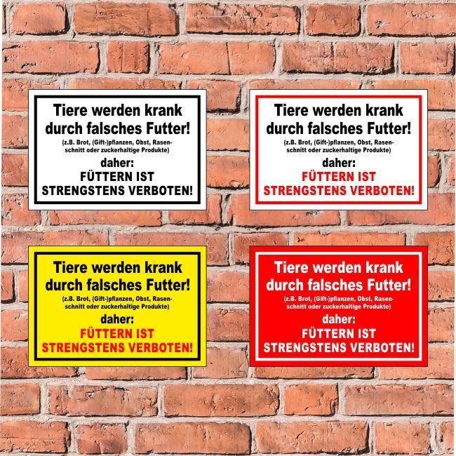 S39-016 Füttern ist strengstens verboten! in 4 Größen Schild